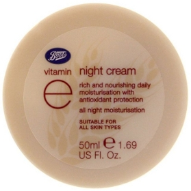 boots vitamin e night cream